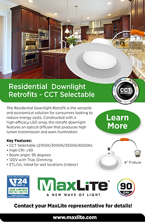 Residential Retrofit Downlights - CCT Selectable